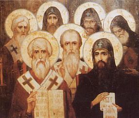 Sveti Sedmotschislenizi, die Siebenzahl der Erleuchter Bulgariens / 19.Jhdt, Hl.Alexander Nevski Kathedrale, Sofia, Bulgarien